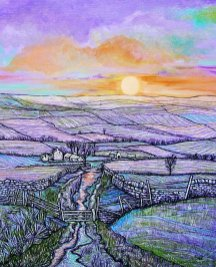 Sally Brackett - Purple Sunset
