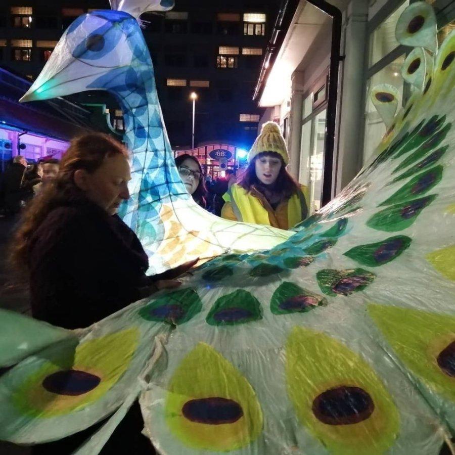 JKemp - Peacock lantern