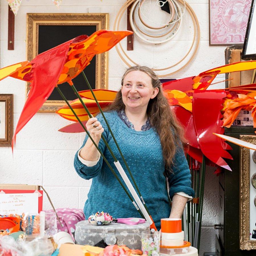 Jess Kemp studio - bird making