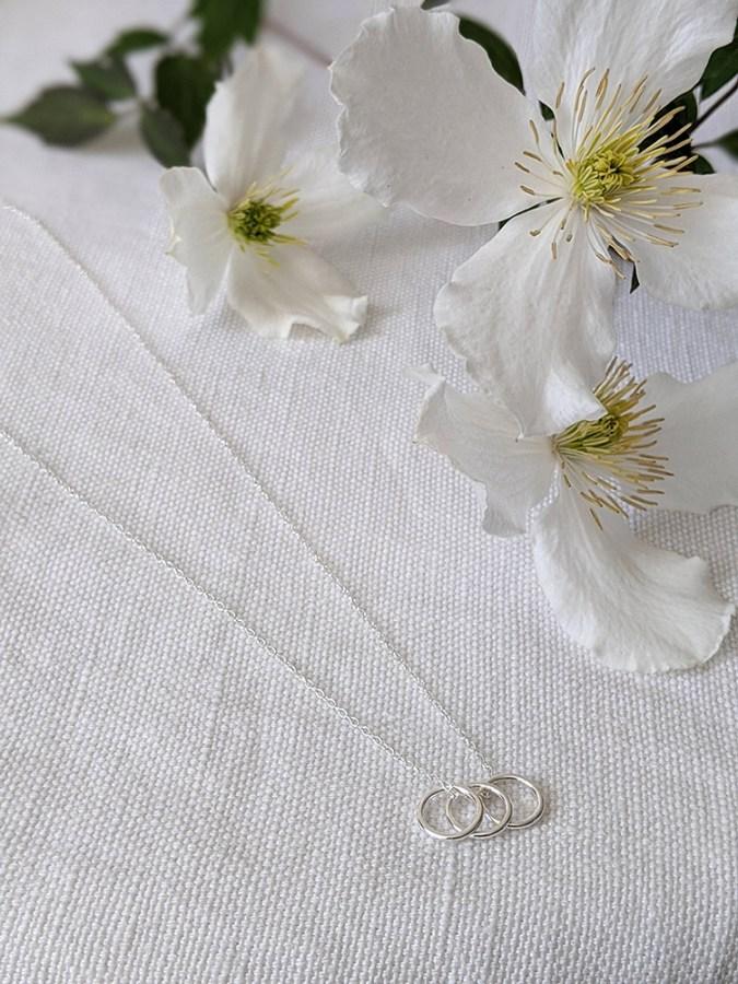 Lianne Hoult - Figure Jewellery - Triple Mini Hoops Pendant