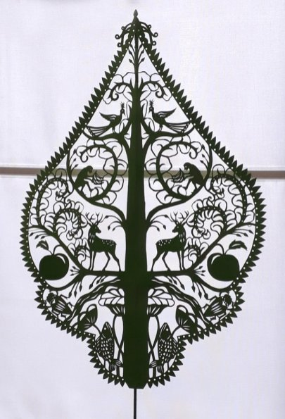Sarah Manton, Tree of Life Shadow Puppet, Papercut by Hand, 60 x 40cm, NFS