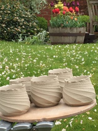 Susan Morton - ready for first firing