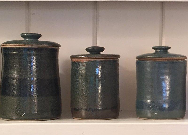 Ann Robbins - blue storage jars