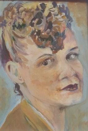 Fiona Aitken - Wartime Mum acrylic portrait