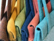 Janie Knitted Textiles - Geo tote bags