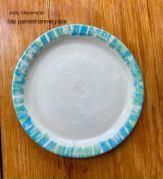 Judy Stevenson - Slip painted dinner plate
