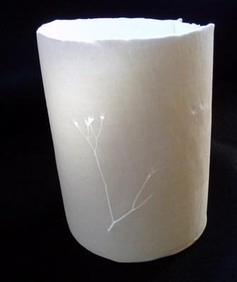 Mandy Livesley - Impressed Porcelain Pot