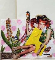 Mandy Bray - Joy amongst the birds, sketchbook collage