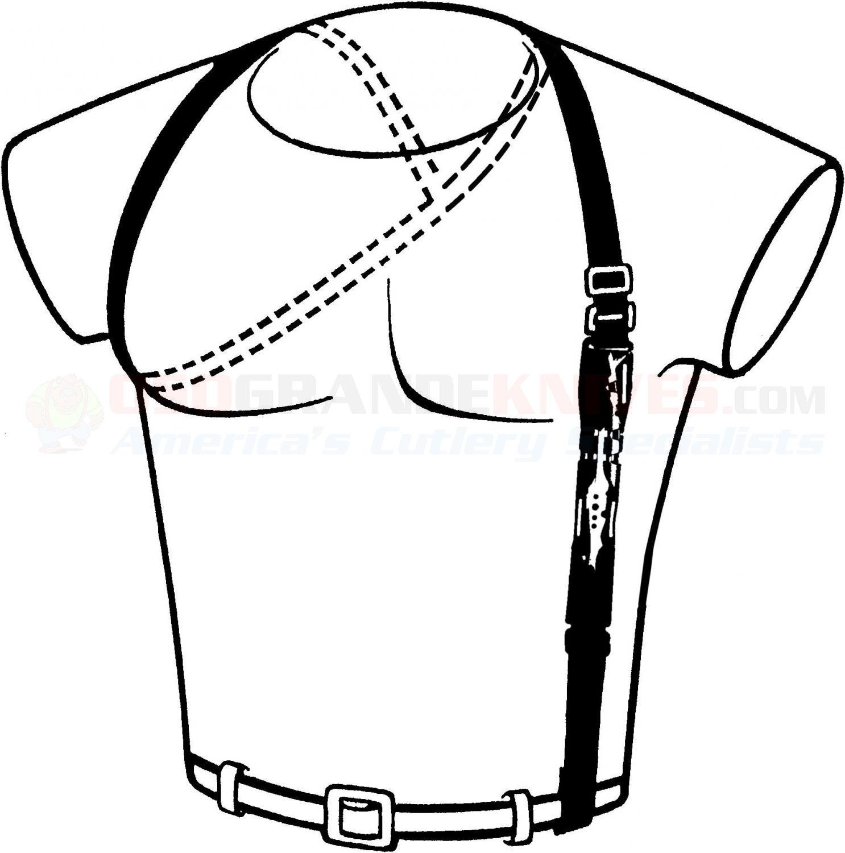 M48 Stinger Urban Dagger Black With Shoulder Harness
