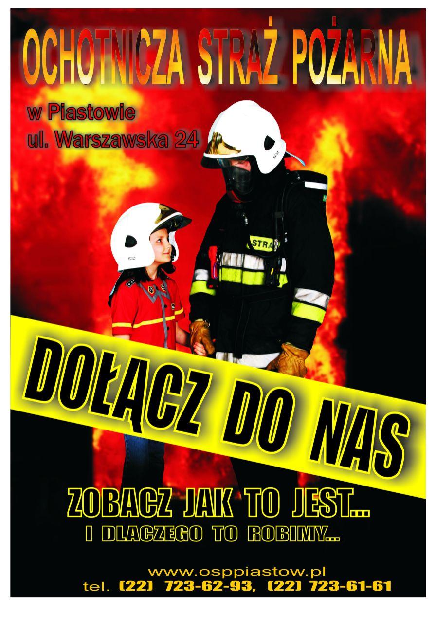 Plakat OSP Piastów - Dołącz do nas