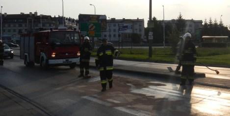Kolizja pojazdów naWarszawskiej