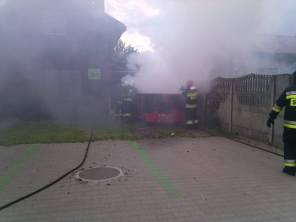 Pożar kontenera