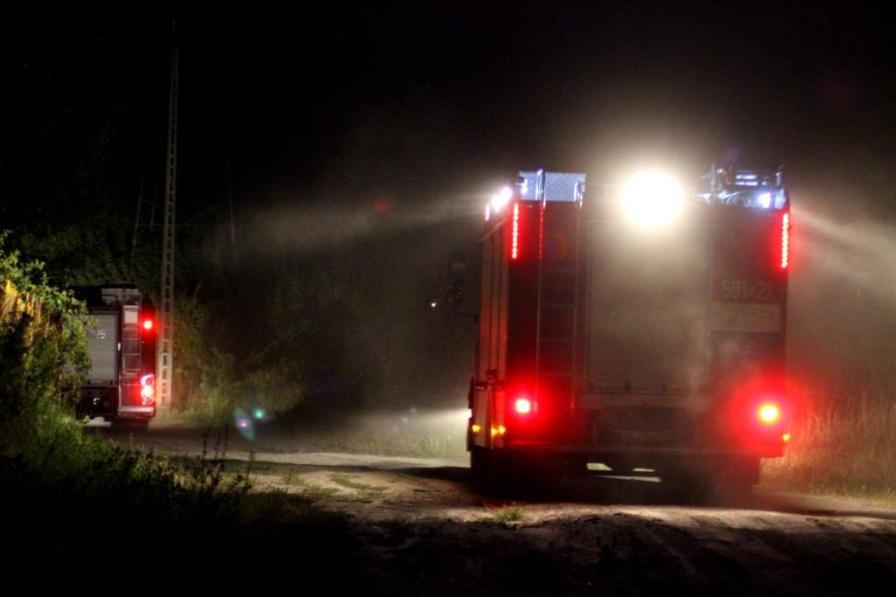 Pożar trawy przy ul.Zdziarskiej wPruszkowie