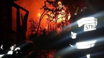 Pożar altanek - Granica