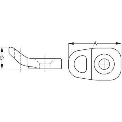 Deck Fitting Single Loop 2Pack 4