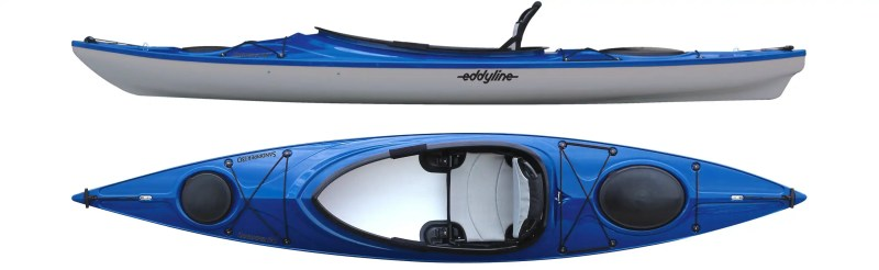 Top and side view of eddyline sandpiper 130
