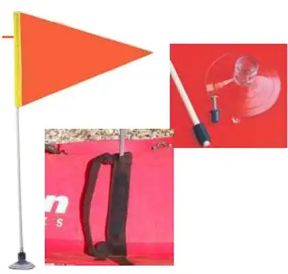 Safety Flag w/ staff and mount 2