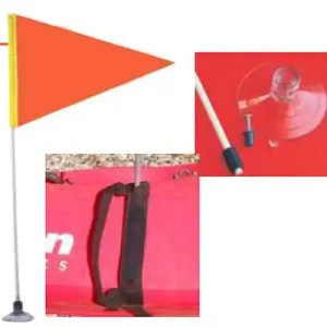 Safety Flag w/ staff and mount