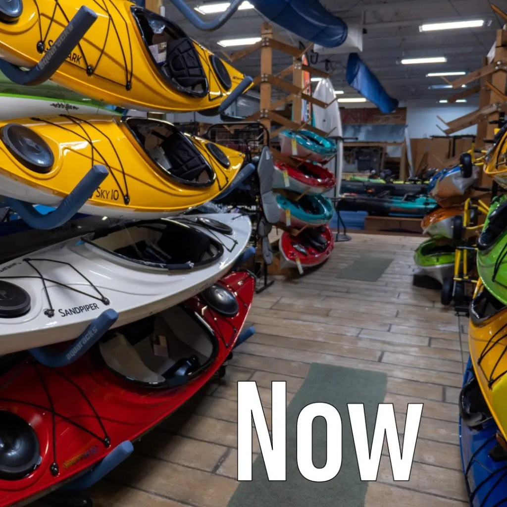 Eddyline and Hurricane Kayaks back on the shelves in the store