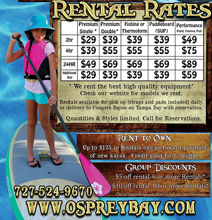 Rentals Kayak and SUP 1