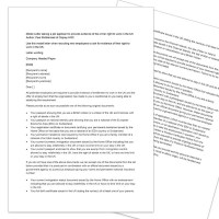 Osprey Model Letter, asking a job applicant to provide evidence of his or her right to work in the UK