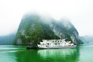 TRAVEL_The morning mist in Halong Bay Vietnam