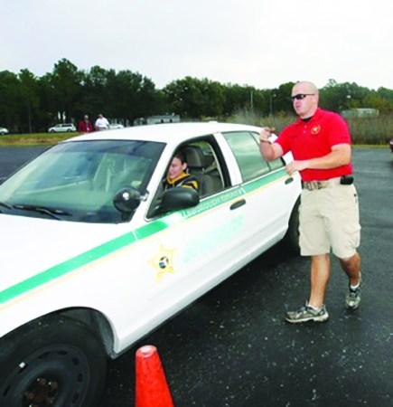 Teen Driver Challange Alexa Vaughan and Deputy Clint Leapley - Copy