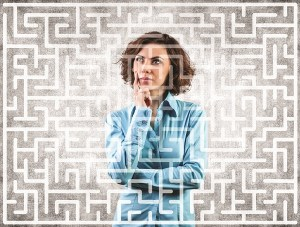 maze-Woman-Looking-at-Maze
