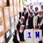 طالبات كويتيات يجمعن مليون غطاء بلاستيكي