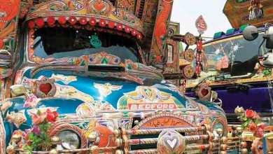 Photo of حافلات باكستان..   لوحات فنية تُزين الطرقات
