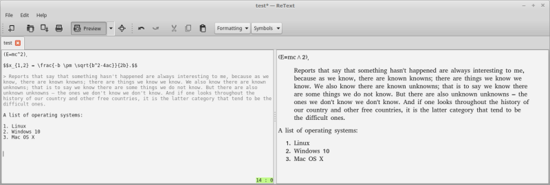 ReText - Linux Markdown editor