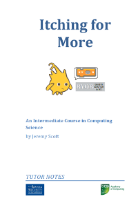 An Intermediate Course in Computing Science: Itching for More