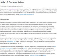 Julia Documentation
