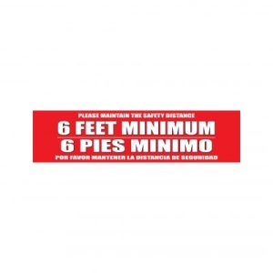 Covid bilingual floor decal english and spanish