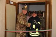 il Col. Cucchini, C.te del MNBG-W e il comandante dei Vigili del Fuoco di Gjakova
