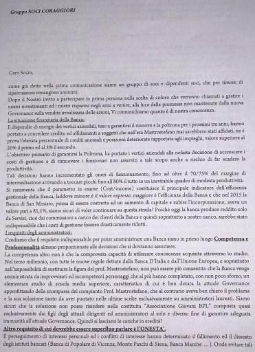 Pagina 1 lettera soci e dipendenti coraggiosi