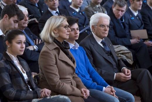 Il presidente Mattarella a Palazzo Vecchio. Accanto a lui lo studente Francesco Zecchi