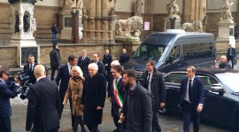 Mattarella arriva a Palazzo Vecchio