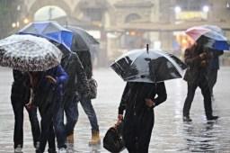 Piogge e temporali previste nell'ultimo week end di febbraio 2016