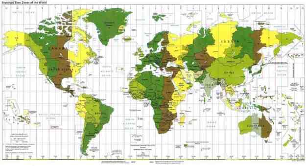 I fusi orari nel mondo