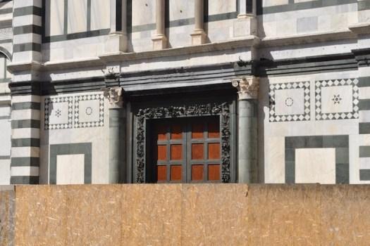 La Porta Sud provvisoria nel Battistero