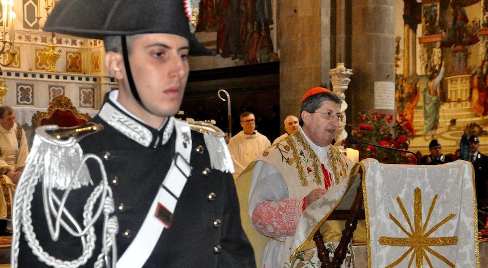 Il cardinale Giuseppe Betori durante l'omelia per la Virgo Fidelis 2017