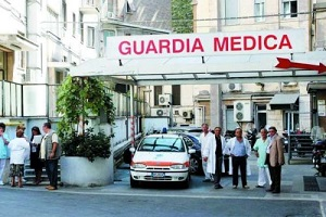 guardia medica in visita con i taxi