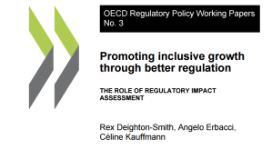 Promoting inclusive growth through better regulation: a new analysis of the current implementation of RIA in the main OECD Countries