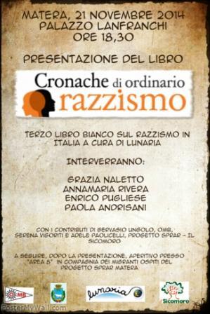 locandina Cronache 2014 a Matera