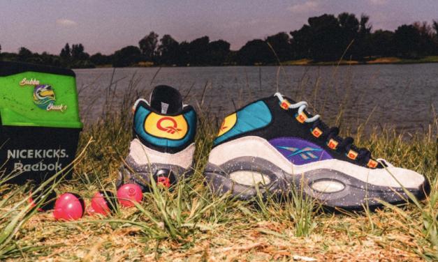 """Question Mid """"Bubba Chuck"""" de Reebok X Nice Kicks: un homenaje a la pasión de Allen Iverson por la pesca"""