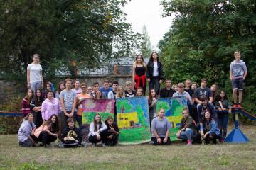 Vítání žáků 1. ročníků v zahradě školy - IMG 0472