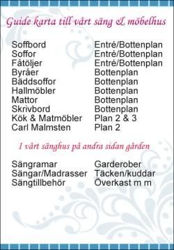 Guidekarta Östbergs Säng & Möbelhus