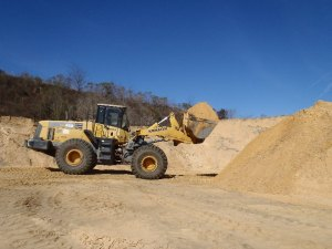 Archer sand pit fill dirt and loader