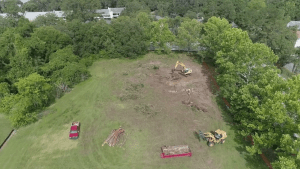 The RISE apartment community construction site land clearing